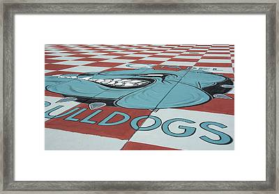 Barracks Bulldog Framed Print