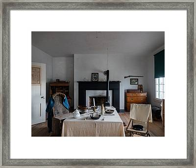 Framed Print featuring the photograph Barracks Interior At Fort Laramie National Historic Site In Goshen County by Carol M Highsmith