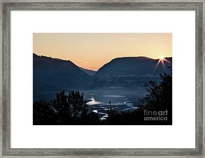 Barrea Lake, Abruzzo National Park Framed Print by Luigi Morbidelli