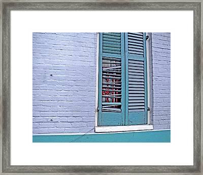 Barred And Shuttered Framed Print