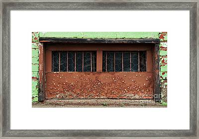 Barred And Weathered Framed Print by Royce Howland