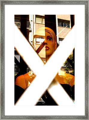 Barred Framed Print by Jez C Self