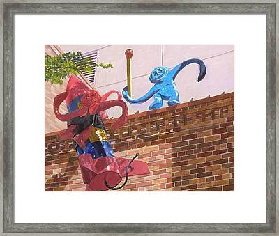 Barrel Of Fun Framed Print by Lynne Reichhart