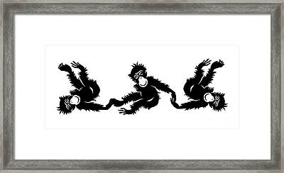 Barrel Of Monkeys Mug Framed Print by Edward Fielding