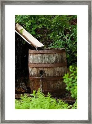 Barrel Of Water Framed Print