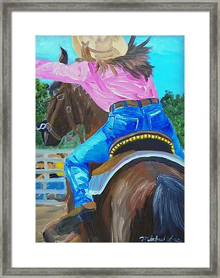 Barrel Rider Framed Print