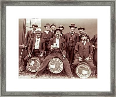 Barrel Riding Framed Print by Jon Neidert
