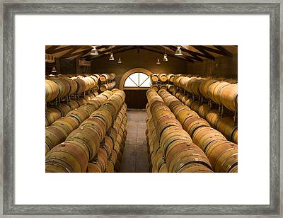 Barrel Room Framed Print by Eggers Photography