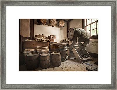 Barrels By The Window Framed Print