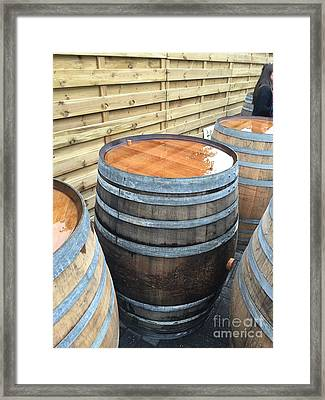Barrels In Belgium Framed Print by Evan N
