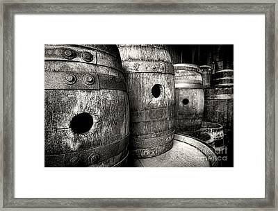 Barrels Of Laugh Past  Framed Print
