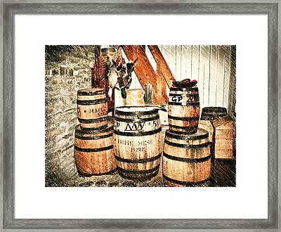 Barrels Sketch 4 Framed Print