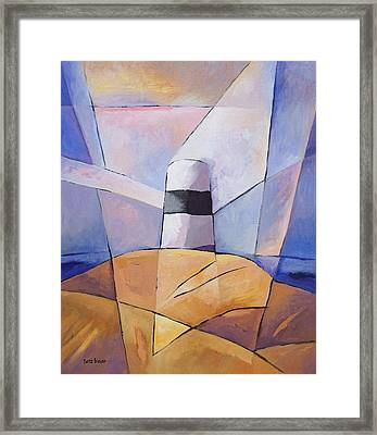 Barren Coast Beacon Framed Print by Lutz Baar