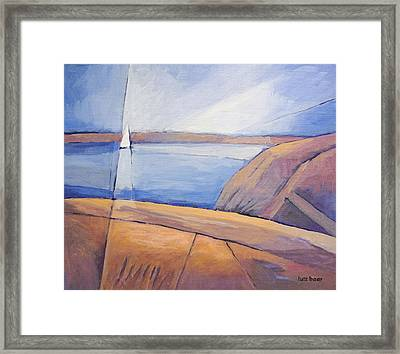 Barren Coast Seascape Framed Print by Lutz Baar