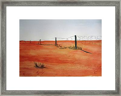 Barren Land Framed Print