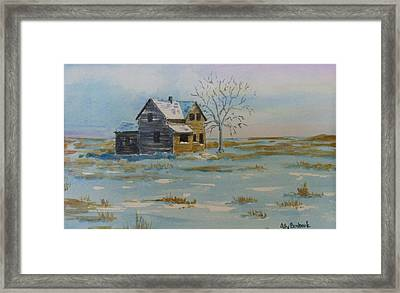 Barren Prairie Framed Print by Ally Benbrook