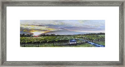Barren Ridge Sunset Framed Print