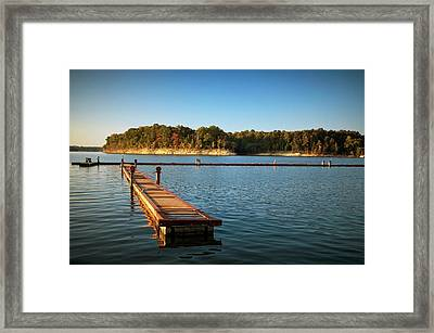 Barren River Lake Dock Framed Print