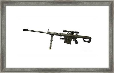 Barrett L82a1 Anti-materiel Rifle Framed Print by Andrew Chittock