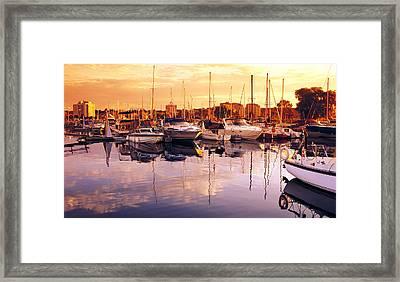 Barrie Marina Sunrise Framed Print