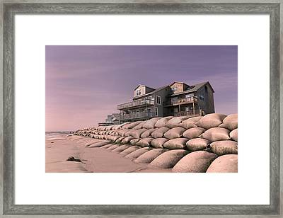 Barrier Island Migration  Framed Print by Betsy Knapp
