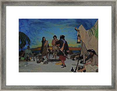 Barring Buccaneers Framed Print by DigiArt Diaries by Vicky B Fuller