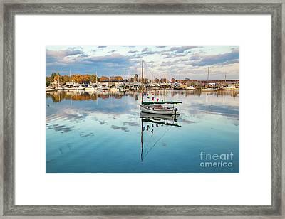 Barrington Harbor Framed Print by Heidi Piccerelli