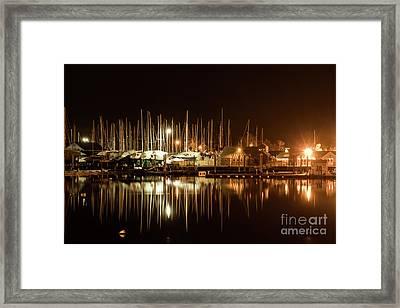 Barrington Harbor Lights Framed Print by Heidi Piccerelli