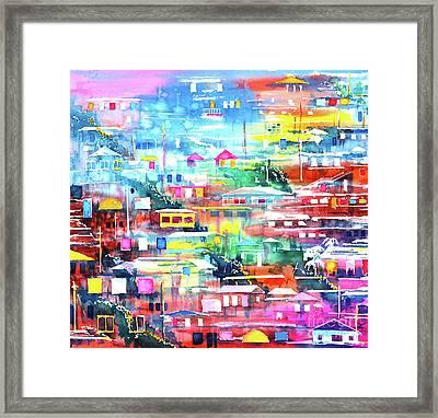 Barrio El Cerro De Yauco Framed Print
