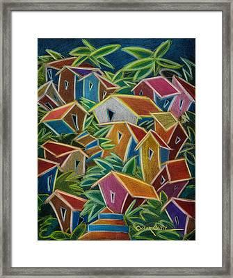 Barrio Lindo Framed Print by Oscar Ortiz