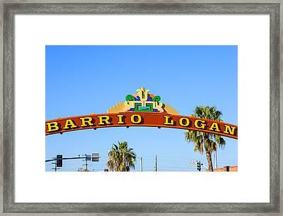 Barrio Logan Framed Print by Joseph S Giacalone