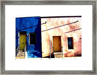 Framed Print featuring the photograph Barrio Viejo 1 by Michelle Dallocchio