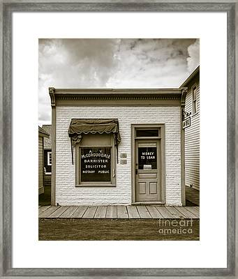 Barrister's Office In The Wild West Framed Print by Edward Fielding