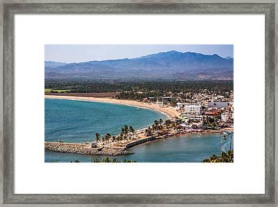 Barro De Navidad. Mid-way Between Puerto Vallarta And Manzanillo Framed Print by Tommy Farnsworth