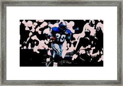 Barry Sanders 17a Framed Print by Brian Reaves