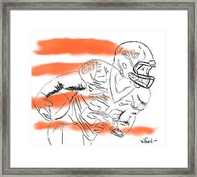 Barry Sanders Jr Framed Print by Jack Bunds