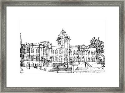 Barry Town Hall And Library Framed Print