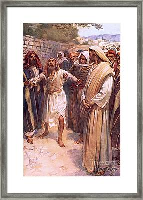 Bartimaeus Framed Print by Harold Copping