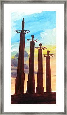 Bartle Hall Pilons Framed Print