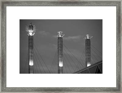 Bartle Hall Pylons Art Framed Print