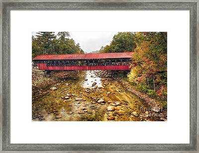 Bartlett Covered Bridge Framed Print by George Oze