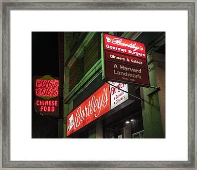Bartley's Burgers And The Hong Kong In Harvard Square Cambridge Ma Framed Print