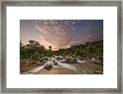 Framed Print featuring the photograph Barton Creek Greenbelt At Sunset by Todd Aaron