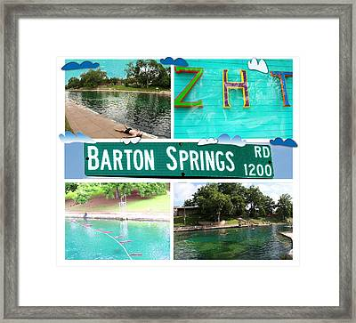 Barton Springs Framed Print