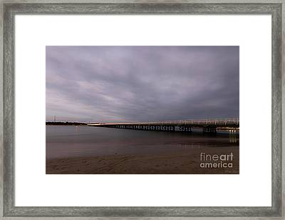 Framed Print featuring the photograph Barwon Heads Bridge by Linda Lees