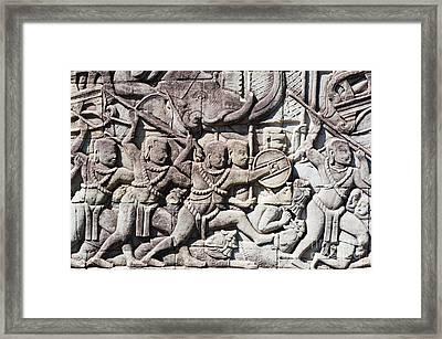 Bas-reliefs Framed Print