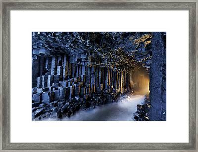 Basalt Pillars Line Fingals Cave Framed Print by Jim Richardson