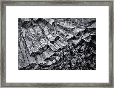 Basalt Rock Formations - Iceland Framed Print by Stuart Litoff
