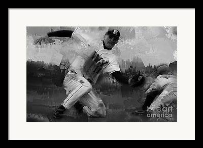 Chase Utley Paintings Framed Prints