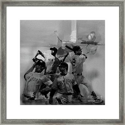 Base Ball Players Framed Print by Gull G